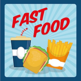 Fast food icon design