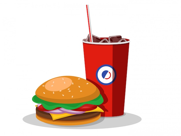 Fast food icon, vector illustration. isolated