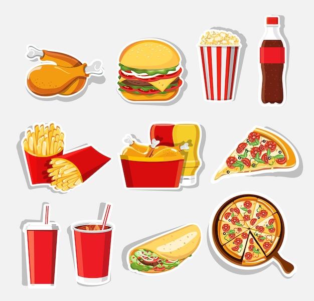 Иконки быстрого питания изолированные значки быстрого питания