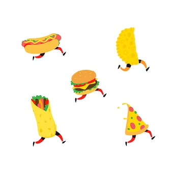 Fast food illustration.