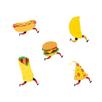 Иллюстрация быстрого питания.