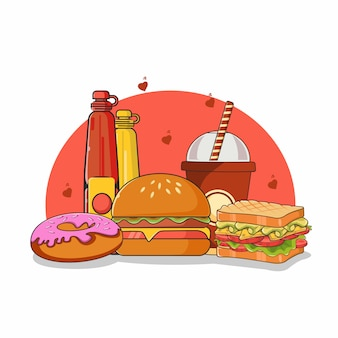 Fast food illustration