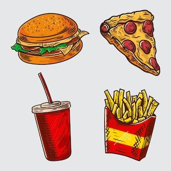 Иллюстрация быстрого питания