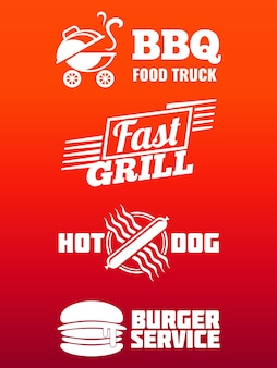 Fast food labels collection