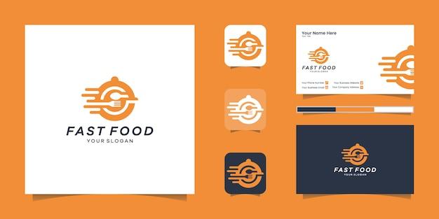 Логотип быстрого питания и вдохновение для визиток
