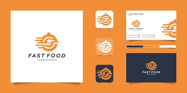 Fast food logo and business card inspiration