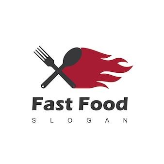 Шаблон логотипа быстрого питания
