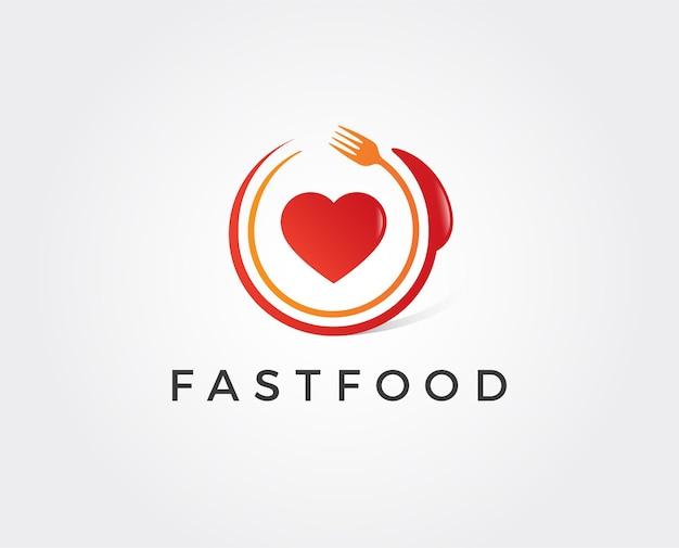 ファーストフードのロゴのテンプレート