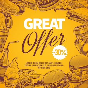 Fast food offer concept design
