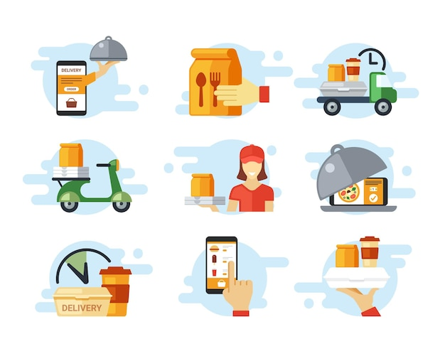 Fast food ordering and delivery set