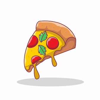 Иллюстрация значка пиццы быстрого питания