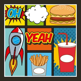 Fast food pop art