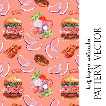 Fast food restaurant pattern card