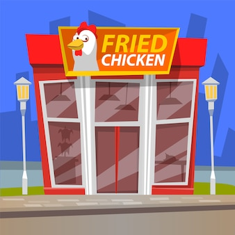 Fast food restaurant, urban cafe, chicken