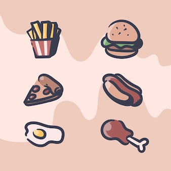 Fast food retro illustration