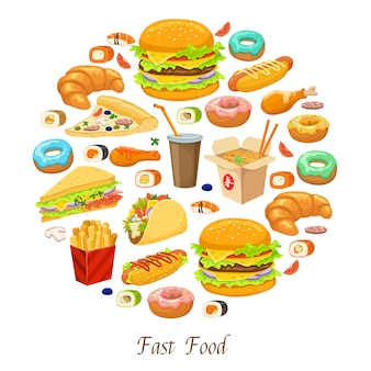 Fast food round composition