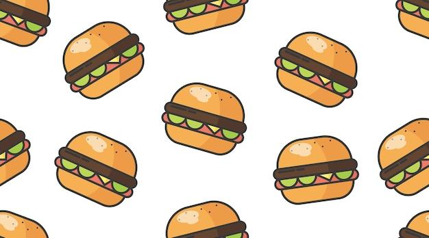 Fast food seamless pattern illustration