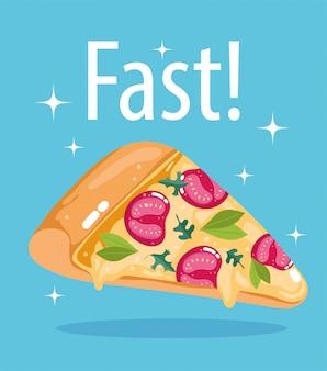 Фаст фуд ломтик пиццы