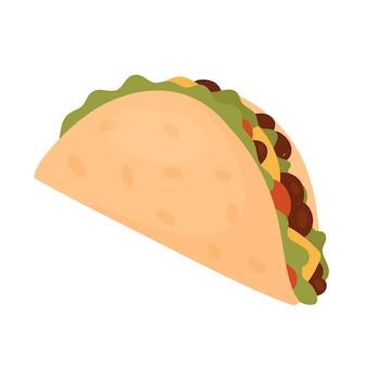 Тако быстрого приготовления вкусные закуски быстрого питания нездоровые мексиканские тако с мясом и овощами
