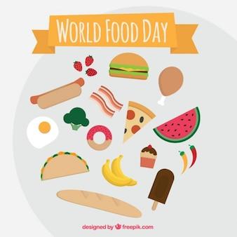 世界の食料日祝うためにファーストフード
