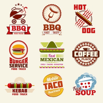 Fast food vector logo