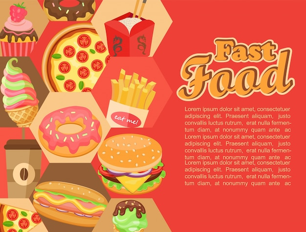 Fast food, vector.
