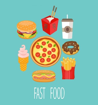 Fast food, vector.