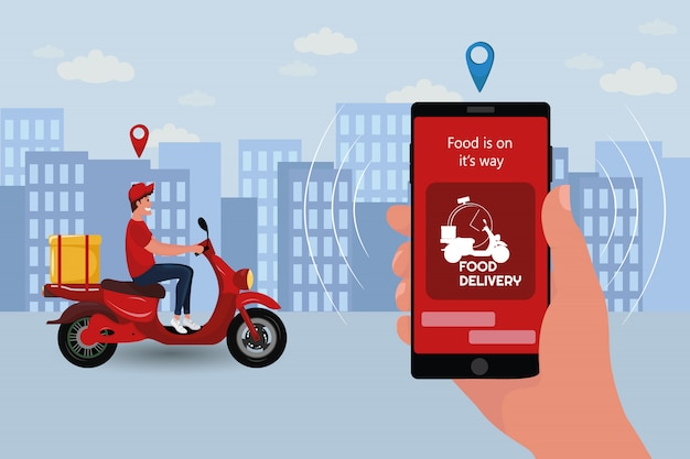 Fast and free delivery by scooter.