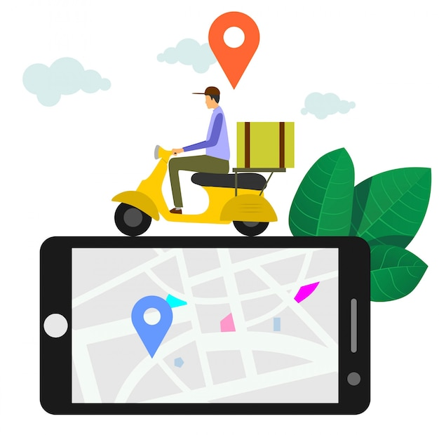 Fast and free delivery by scooter
