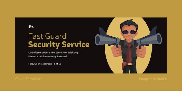 Fast guard security service facebook cover design