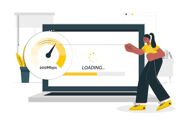 Fast loading concept illustration