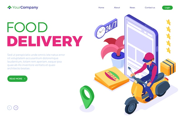 Fast online food order and package delivery service.