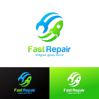Fast repair logo design template