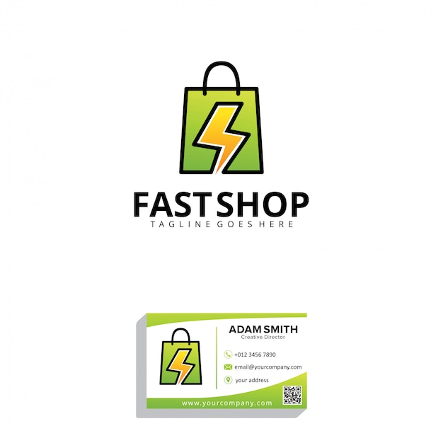 Шаблон логотипа fast shop