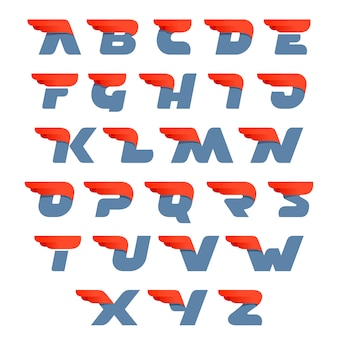 Fast speed english alphabet letters.