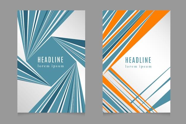 Fast speed lines business headlines set