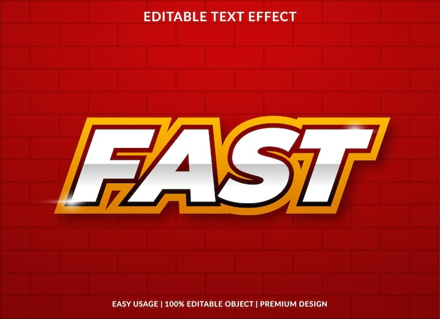 대담한 스타일의 빠른 텍스트 효과 디자인