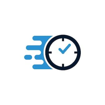 Шаблон дизайна логотипа fast time