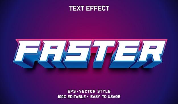 Быстрее редактируемый текстовый эффект