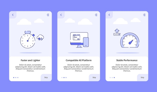 Faster and lighter compatible all platform stable performance onboarding
