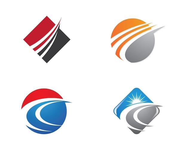 Faster logo template vector icon illustration design