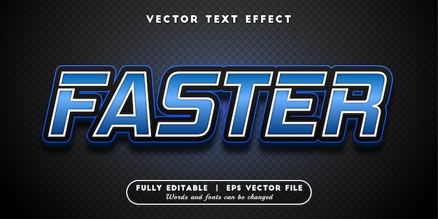 Faster text effect, editable text style