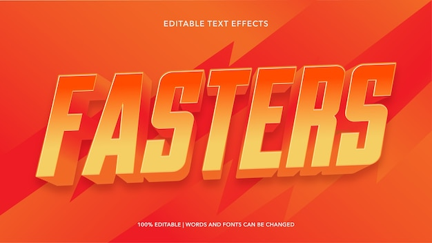 Более быстрые редактируемые текстовые эффекты