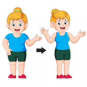 Fat to fit woman body transformation