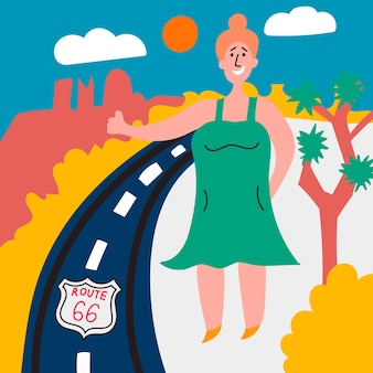Fat girl votes highway 66 usa hitchhiking journey through america