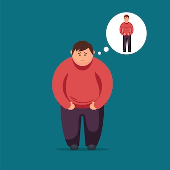 体重を減らすのファットマンの夢。