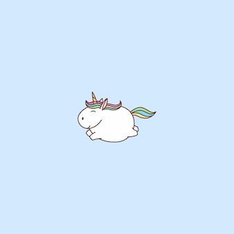 Fat unicorn flying