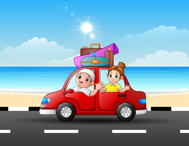 車で旅する父と娘