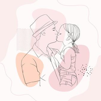 Отец обнимает сына на день отца в стиле j