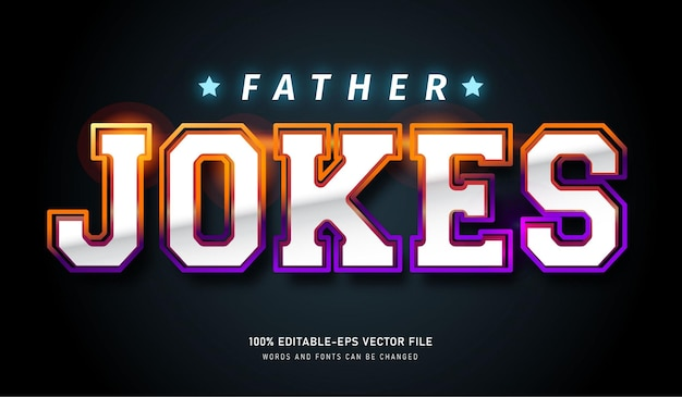 Father jokes text effect and editable fonts